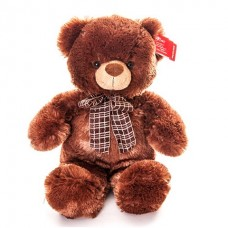 AURORA Игрушка мягкая Медведь коричневый с бантом 45см [Артикул: 21-237]