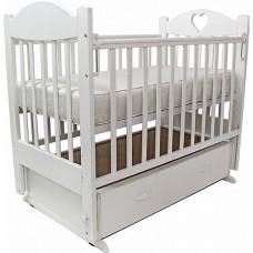 Кровать детская Топотушки Ева-6 с сердечком, маятник, с ящиком