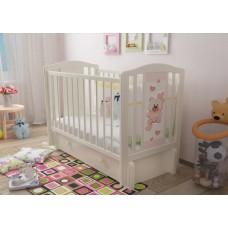 """Кровать детская """"Тедди 3"""" (Базовая + маятник с ящиком) Можгинский лесокомбинат"""