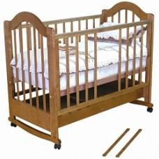 Детская кроватка Красная Звезда Злата С-353 колесо-качалка 120x60 см