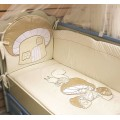 """Комплект в кроватку для новорожденного """"Грибочек"""" (арт. С-90) 7 пр."""