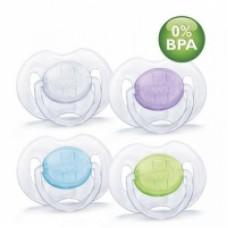 Пустышкa силиконовaя Philips Avent Классика 0-6 мес 2 шт. BPA-Free 86137