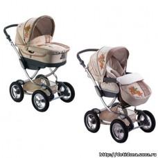 Коляска для новорожденных, универсальная коляска 2 в 1 (Зима - Лето) Геоби С706 , Geoby Baby 05