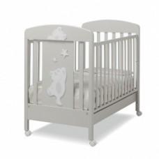 Кроватка Erbesi Cucu Glossy Grey (глянцевый серый)