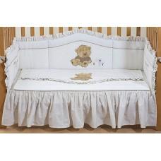 Набор постельного белья для новорожденных Teddy Ivory 4 предмета   120х60