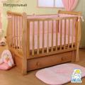 Детская кроватка Кубаньлесстрой (Лель) АБ 21.3 Лаванда продольный маятник